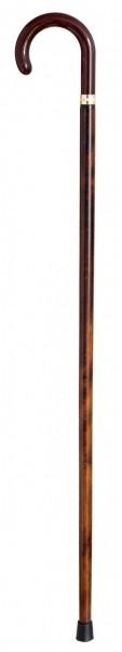 Gehstock Rundhaken Griff mit einem Buchenstock in braun