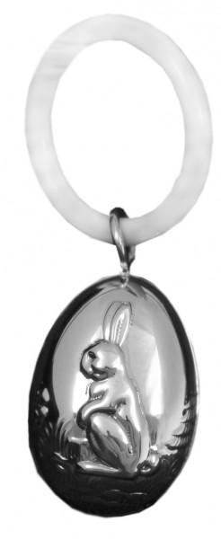Kinderrassel mit Beissring aus Sterling Silber 925