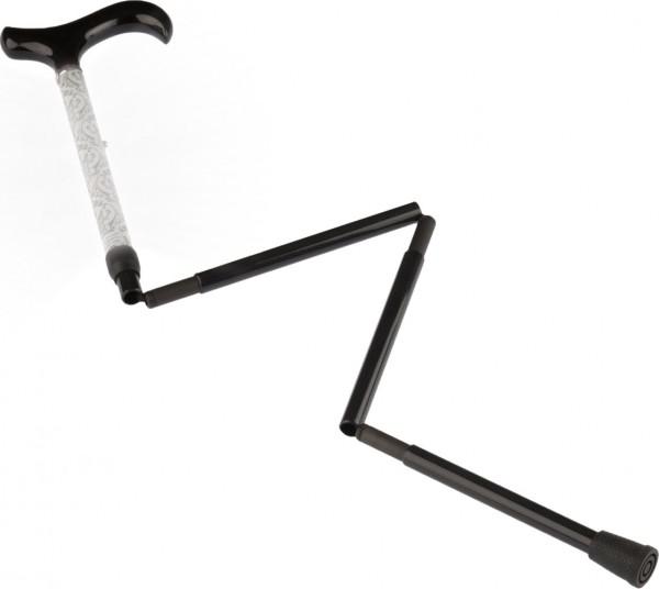Carbon-Gehstock, faltbar mit reflektierendem Schaft