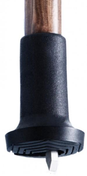 Gummipuffer mit ausklappbarem Spike Stockkapsel Stockspitze für Gehstock Trekkingstock