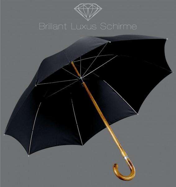 Brillant Luxus Herrenschirm schwarz Ahorn Regenschirm