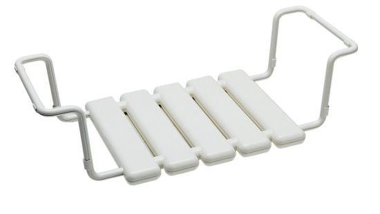 Badewannen-Sitz weiß ABS-Kunststoff