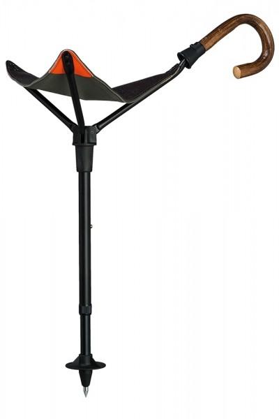 Jagdsitzstock Sitzstock mit Griff aus Eiche