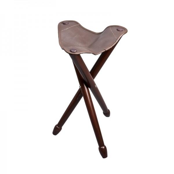 Dreibenhocker - Sitzhocker mit Echtledersitz
