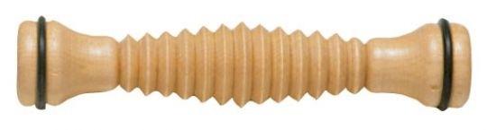 Fußroller aus Holz 1 Rolle gerieftes Profil