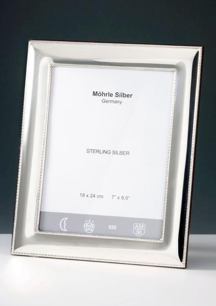 Bilderrahmen Silber Perlrand von Mörhle Silber Deutschland