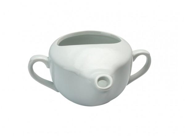 Porzellan Schnabeltasse weiß