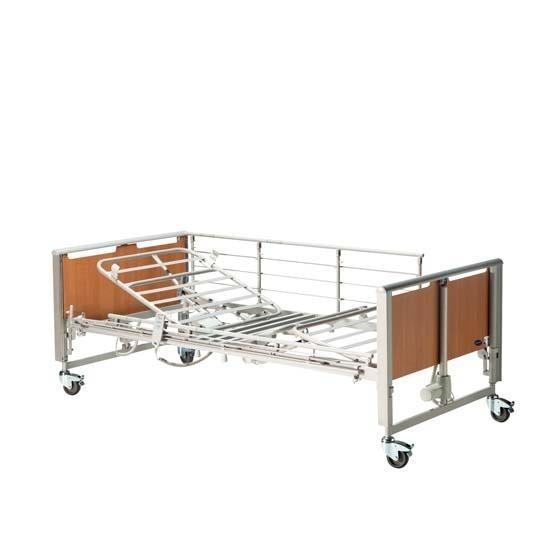 Invacare® Etude® Plus Pflegebett Holzseitengitter, 230 Volt-Version