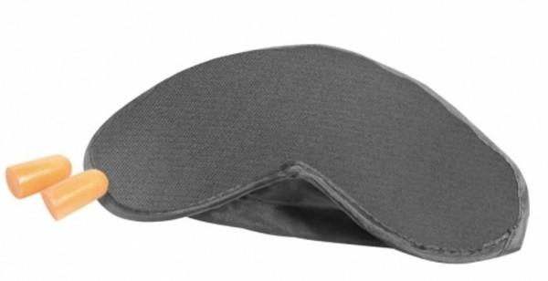 TravelSky Schlafmaske und Ohrenstöpsel grau