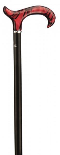 Gehstock höhenverstellbar Perlmutt rot-schwarz