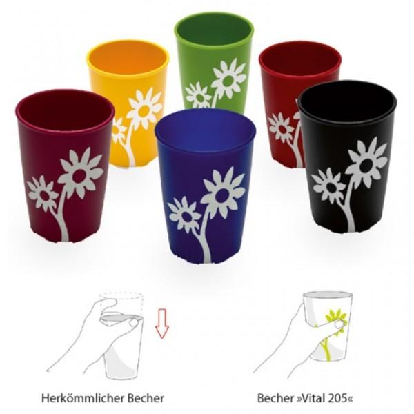 ORNAMIN Becher mit Anti-Rutsch-Blume Modell 820