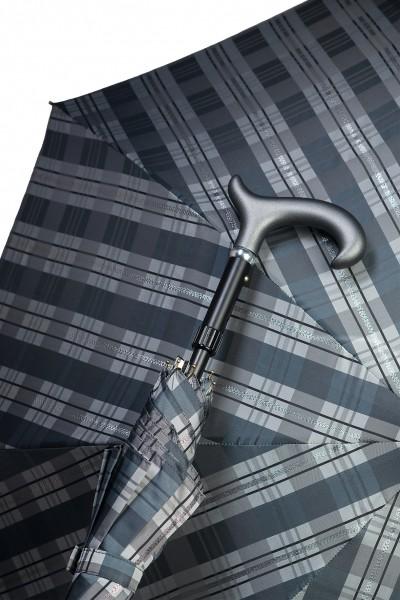 Stützschirm Karo Silber