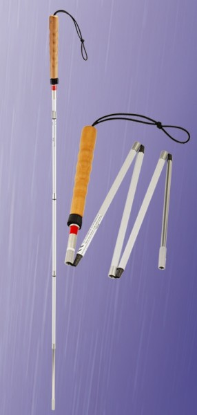 Blindenstock Klappstock 5-teiliger falt-und teleskopierbar (lang)