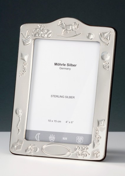 Taufrahmen Sterlingsilber anlaufgeschützt Bilderrahmen Möhrle Silber