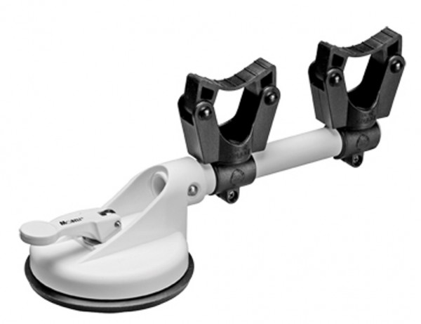 Mobiler DUO Stockhalter 30 kg - 20-30 mm - weiß