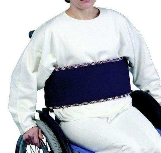 Bauchgurt für Rollstühle, blau, für Erwachsene