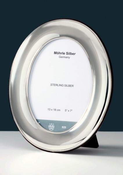 Bilderrahmen Silber oval anlaufgeschützt