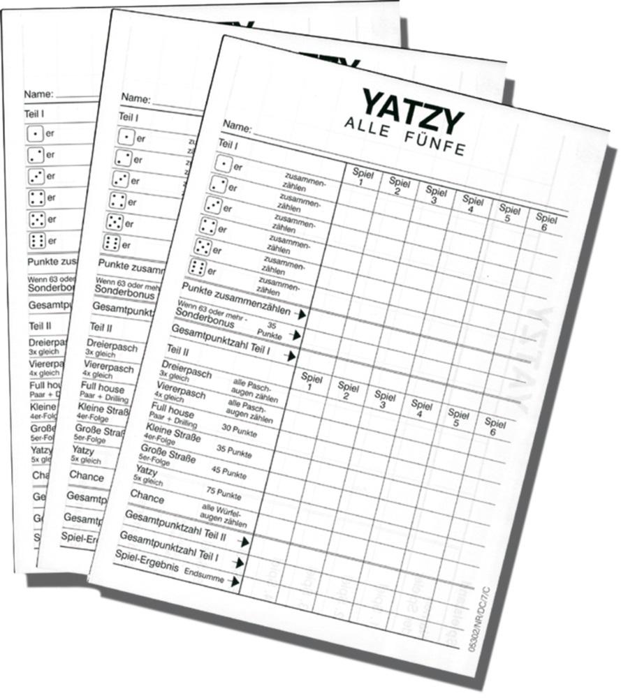 Yatzy Block