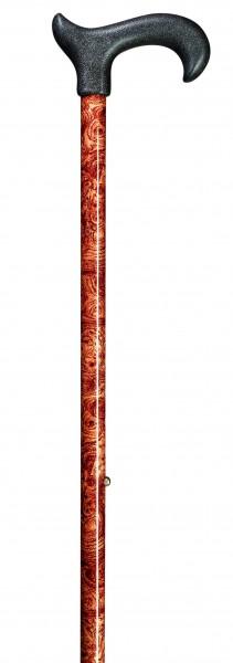 Gehstock aus Leichtmetall Uni Ergonomic Derby Burl Wood Höhenverstellbar Gehhilfe Spazierstock