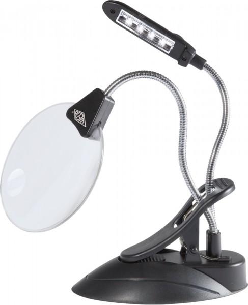 WEDO® Tischlupe mit LED-Licht Lupe